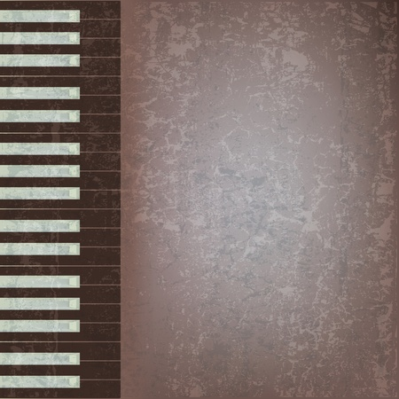 abstract grunge music background with black piano keys Vector