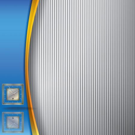 forme carre: illustration abstraite avec horloge sur fond bleu et ray�