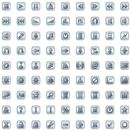 Internet and website icons set isolated on white Vector