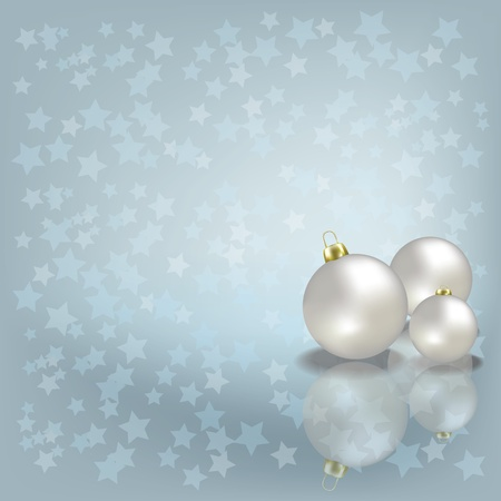 Abstract Christmas greeting with white balls on grey Vector