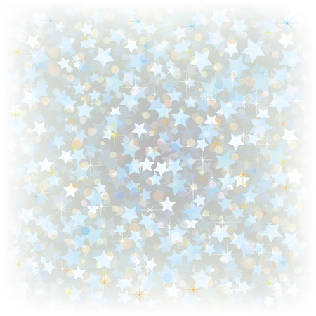 confetti background: Abstract Christmas background with stars on white