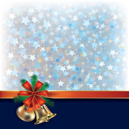 Abstract Christmas blue greeting with gift ribbons Stock Vector - 10490099