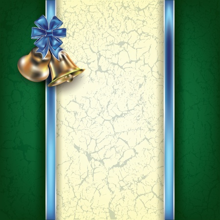 handbell: Abstract Christmas background with ribbons and bells