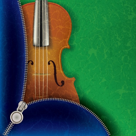 groupe: music background with violin and open zipper