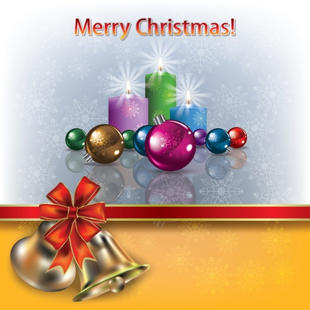 Abstract greeting with Christmas bells and decorations Stock Vector - 11026582