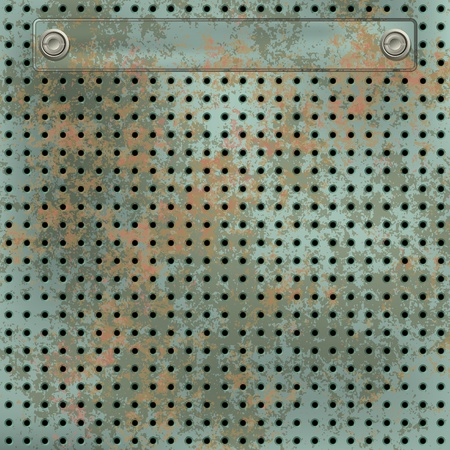 metall: abstract grunge background of rusty green metall mesh Illustration