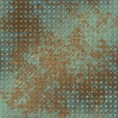 abstract grunge background of green rusty texture