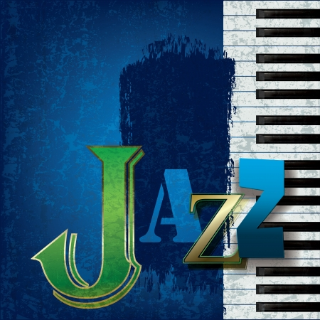 Abstract cracked jazz music background with piano Stock Vector - 11449272