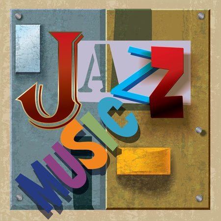 Abstract jazz music background with color signs Vector