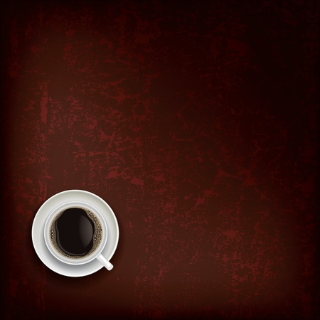 coffeecup: abstract grunge brown background with coffee cup