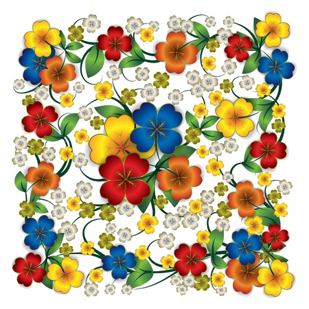 spotted flower: abstract spring floral ornament isolated on white Illustration