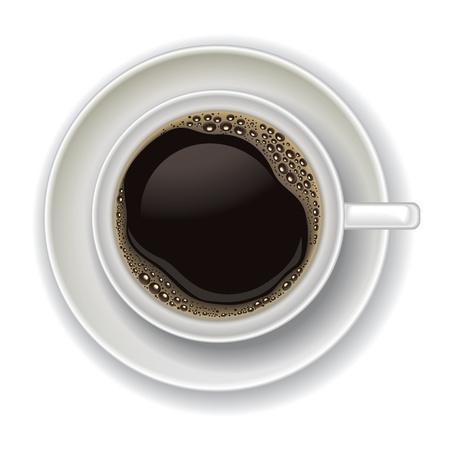tazas de cafe: taza de café aislado en un fondo blanco Vectores