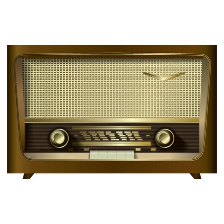 radio rétro isolé sur un fond blanc