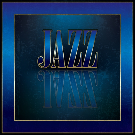 Abstract music background with the blue word jazz Vector