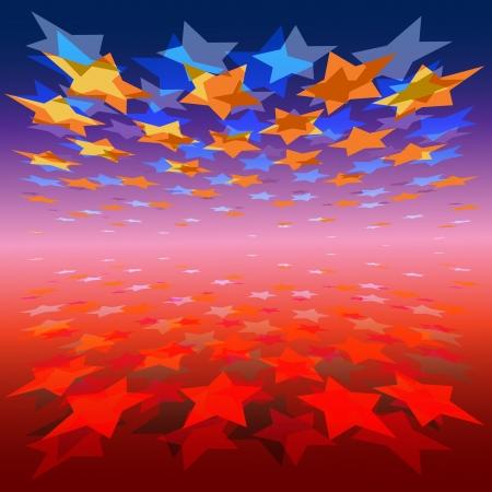 lucero: color de fondo abstracto con efecto de perspectiva y de las estrellas