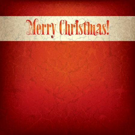 Abstract grunge background with original font text Merry Christmas Çizim