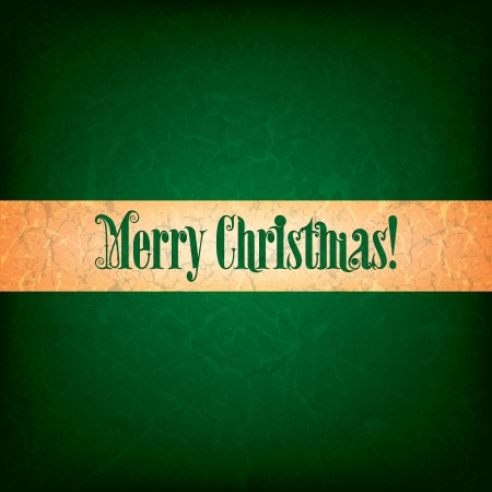 green grunge background: Abstract green grunge background with original font text Merry Christmas