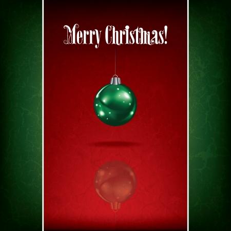 velas de navidad: Resumen de felicitación de Navidad con la decoración sobre fondo rojo Vectores