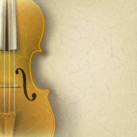 classical dance: abstract grunge music background with violin on beige