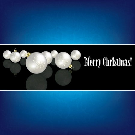 Christmas grunge background with white decorations on black Stock Vector - 15906678