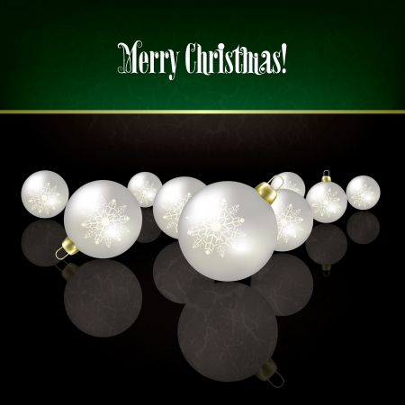 Christmas grunge black background with white decorations Stock Vector - 15906684
