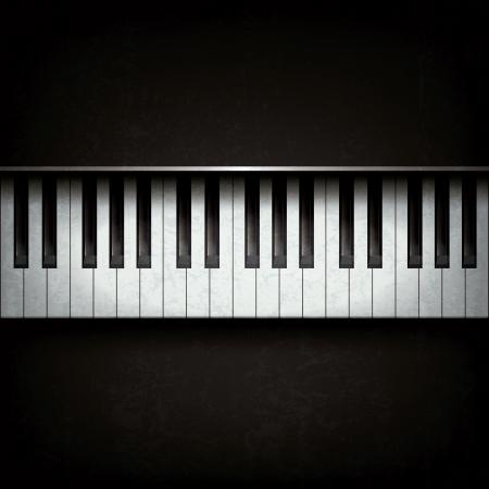 klavier: Abstract grunge Hintergrund mit Klavier auf schwarz