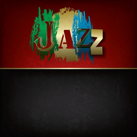 logo music: Abstract grunge music background with logo jazz