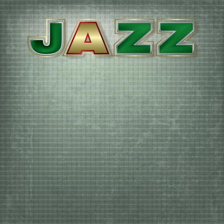 Abstract grunge green background with word jazz Stock Vector - 17898998