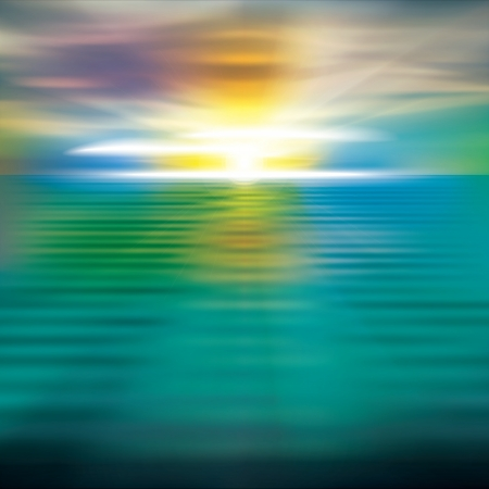 over the sea: abstract nature background with sea sunrise and clouds