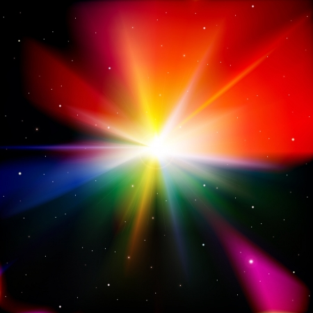 supernova: abstract background with stars and supernova Illustration