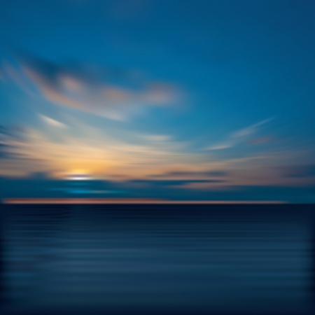 horizon over water: abstract morning background with clouds and sea sunrise