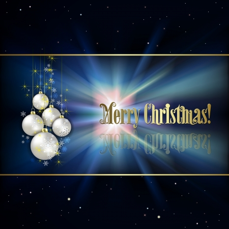 Abstract black background with white Christmas decorations and stars Vector