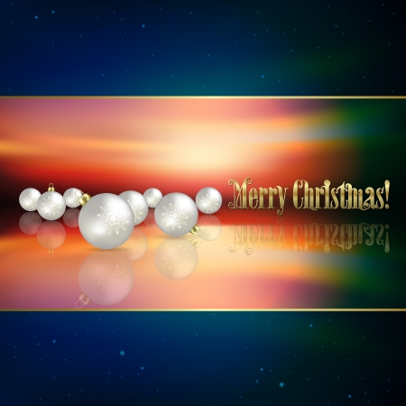 Abstract blue background with white Christmas decorations Vector