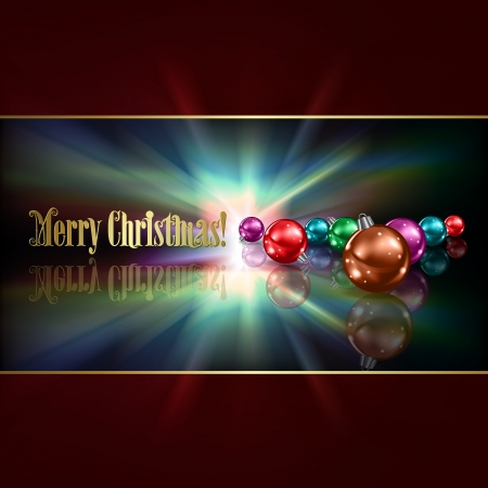 Abstract dark blue background with Christmas decorations Vector