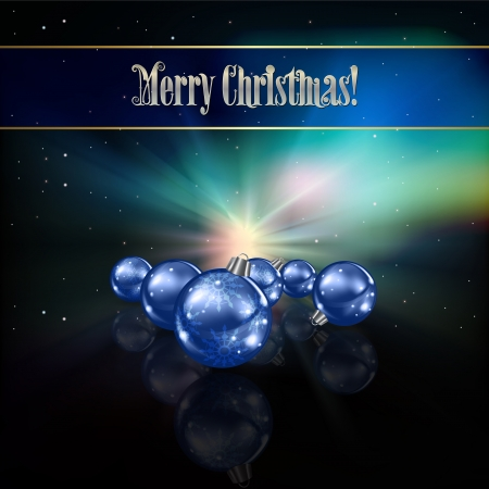Abstract celebration background with blue Christmas decorations Vector
