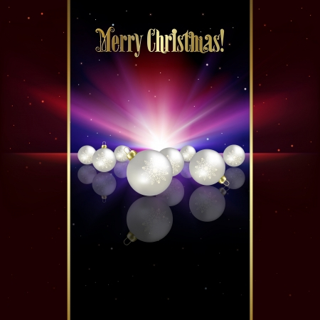 Abstract celebration background with white Christmas decorations and stars Vector