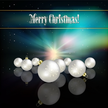 Abstract celebration background with white Christmas decorations Vector