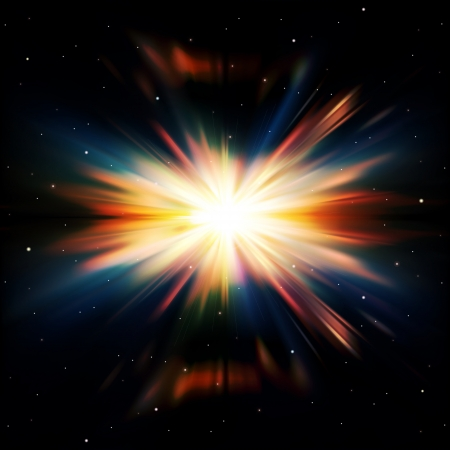 sunbeams background: abstract black space background with stars and supernova