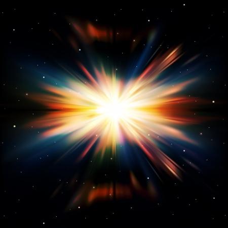 lucero: resumen de antecedentes espacio negro con estrellas y supernovas