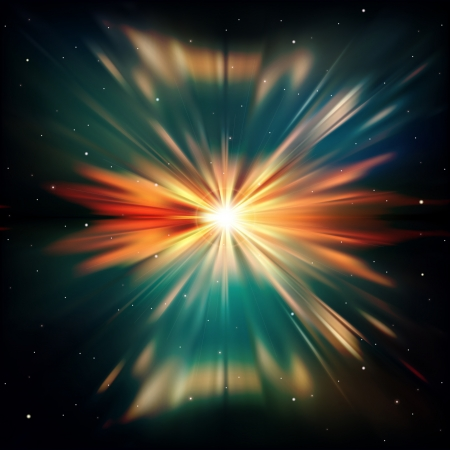 abstract space background with supernova and stars