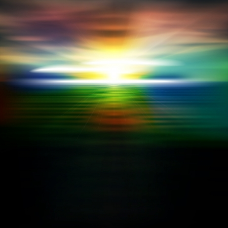 horizon over water: abstract dark nature background with sea sunrise and clouds