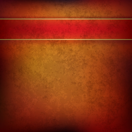 bad condition: abstract brown grunge background with red ribbon