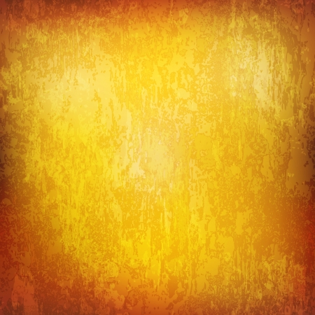 abstract yellow grunge background of vintage texture Vector