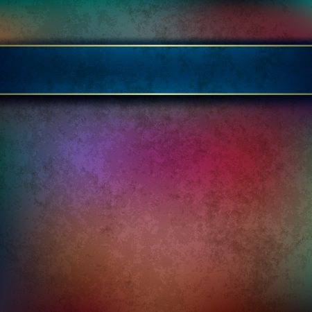 bad condition: abstract dark grunge background with blue ribbon