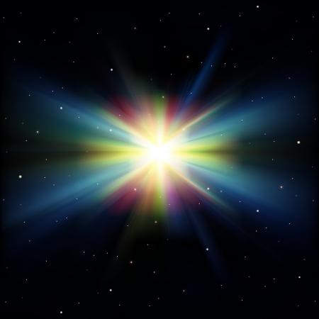 lucero: fondo negro abstracto con las estrellas y las supernovas