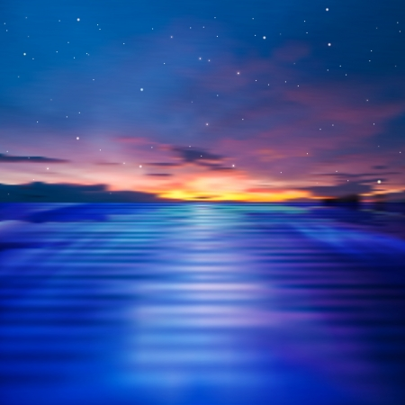 sunset sky: abstract background with dark sky and ocean sunset