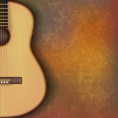 classical guitar: abstract grunge music background with guitar on brown stone texture