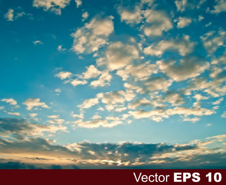 ร   ร   ร   ร  ร ยข  white clouds: abstract nature blue background with sunset and white clouds