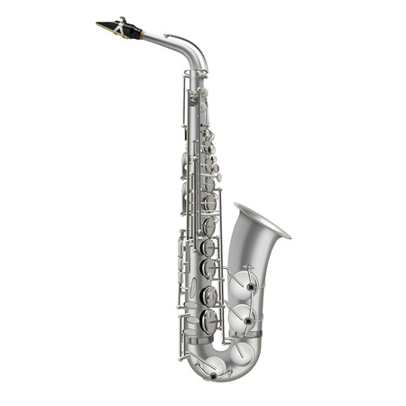 photorealistic saxophone vector illustration isolated on a white background Vector