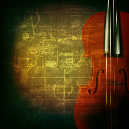 violoncello: abstract green grunge music background with violin